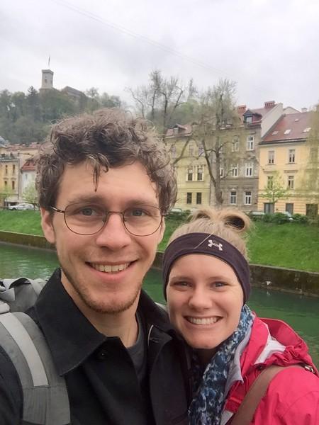 Ljubljana river and it's castle