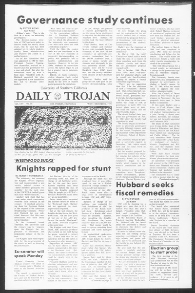 Daily Trojan, Vol. 64, No. 48, December 03, 1971
