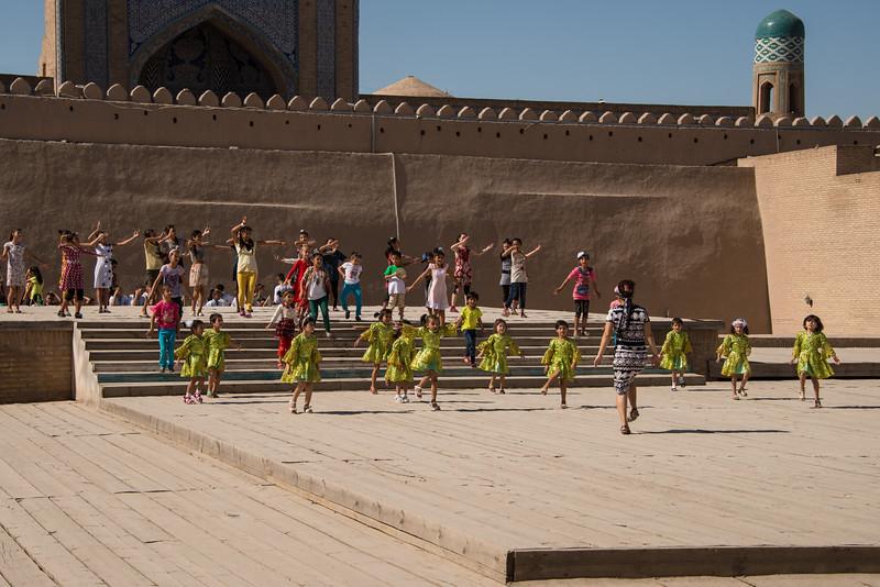 Dance performance in Khiva