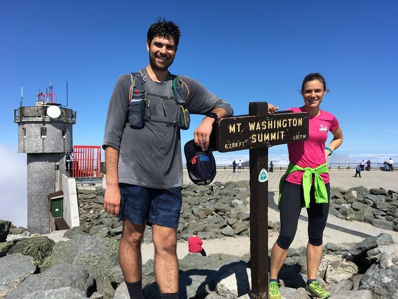 On the top of Mt Washington
