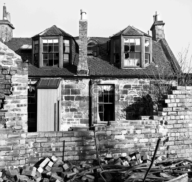 Rear of one of the cottages.
