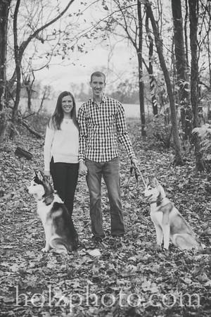 Christina, Mark & Dogs - B/W Photos