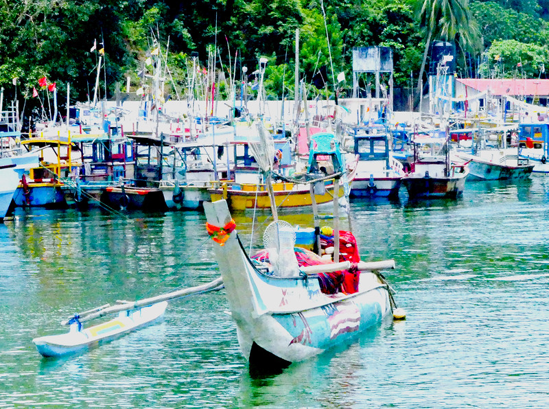 Boats at harbour.