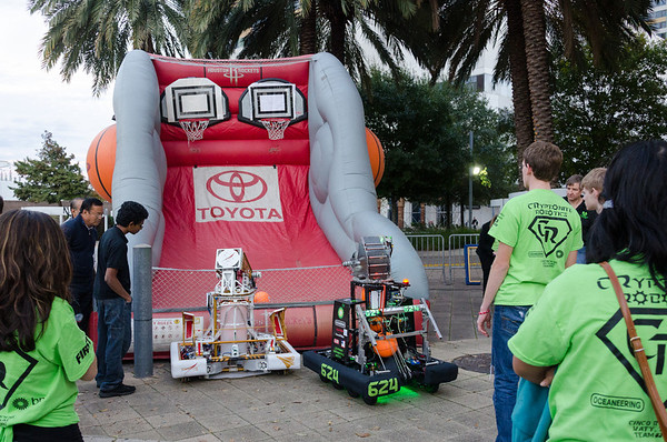 Robot Demo at Toyota Center - 12/22/12
