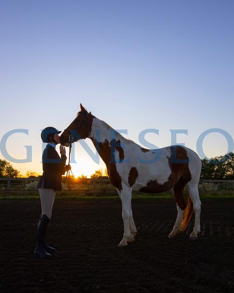 Katy Munn '22 Equestrian for Scene