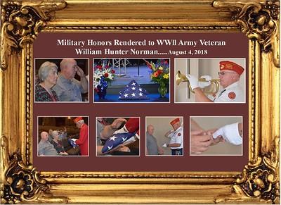 8-4-18 Military Honors for WWll Veteran William Hunter Norman