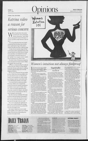 Daily Trojan, Vol. 157, No. 35, March 03, 2006
