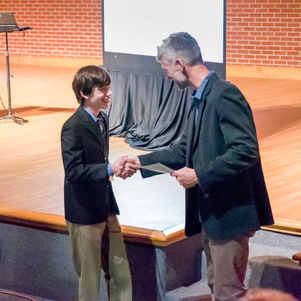 Nico Adomo 1st place mathematics oral presentation and written paper.
