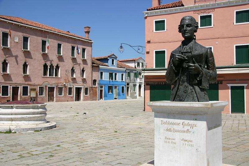 Statue of Galuppi in Burano.