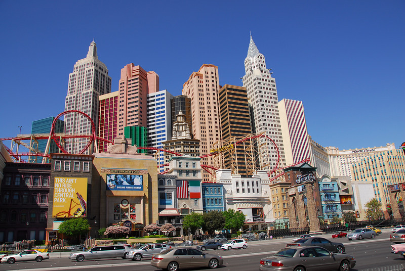 The Roller Coaster, or Manhattan Express, in Las Vegas, Nevada