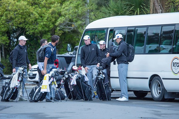 Photos of thePlayers arriving for the 1st practice round at Wellington Golf Club immediately prior to the hosting of the Asia-Pacific Amateur Championship tournament 2017 held in Heretaunga, Upper Hutt, New Zealand in late October 2017. Copyright John Mathews 2017.   www.megasportmedia.co.nz