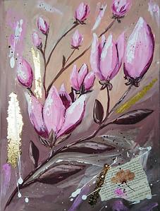 """""""Breath of spring"""" (mixed media) by Mariia Kiseleva"""
