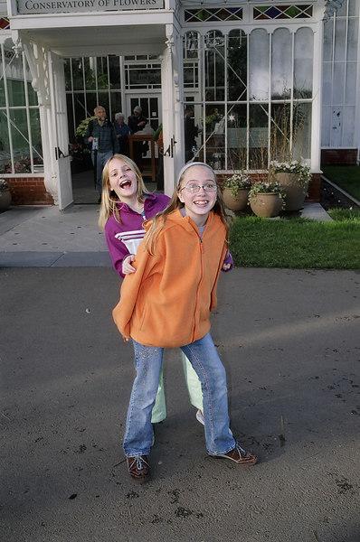 Emily goofing around with Amelia