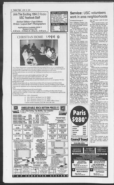 Summer Trojan, Vol. 120, No. 6, June 16, 1993