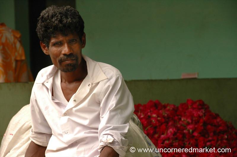 Flower Man: Madurai, India