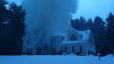 Mutual Aid to Harvard - House Fire - Winter 2011