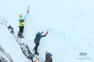 August 25 Ice Climb with Pete and Kelsey