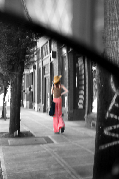 Enjoying our quirky and fun  PDX, July 2012 A VIEW FROM THE REAR VIEW MIRROR-LOVED THE OUTFIT!