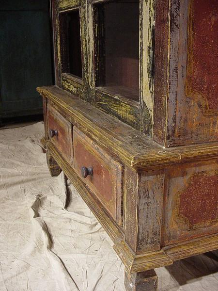 13-CS03-Cabinet blue-red 2doors wglass 2bottom drawers-A (4).JPG