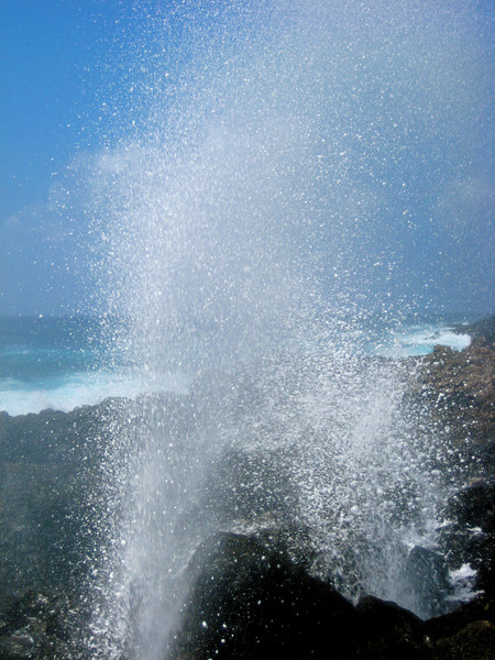 """blowhole"" at the makapu`u tide pools"