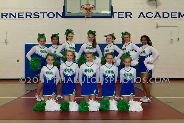 Cheerleading Team Photos/ Senior Night - 2012