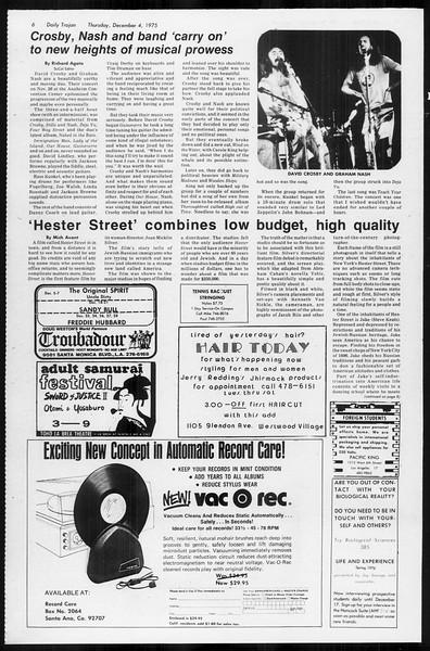 Daily Trojan, Vol. 68, No. 51, December 04, 1975