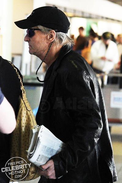 Michael Douglas and Catherine Zeta-Jones Both Wear Leather In Los Angeles