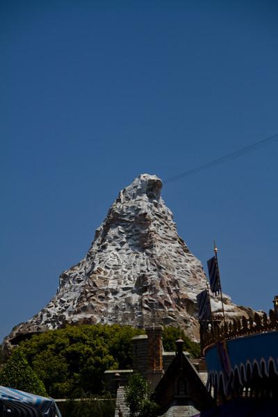Matterhorn behind Fantasyland
