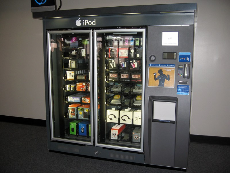 A vending machine selling iPods and accessories, at Dallas-Ft. Worth International Airport
