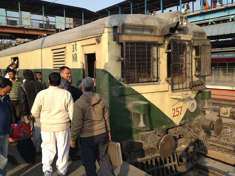 This is the local train we rode back to New Delhi.  It was so crowded we were barely able to get off.