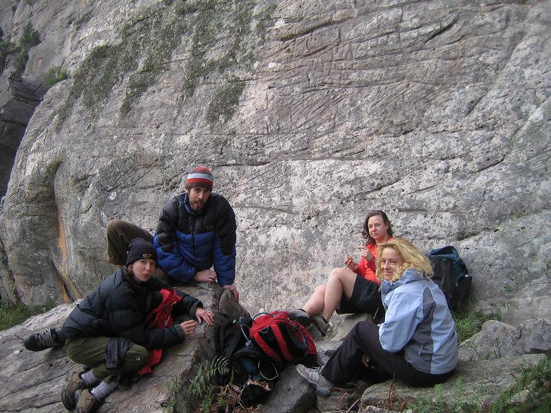 Dave, Hannah B, Nick Weston and friend