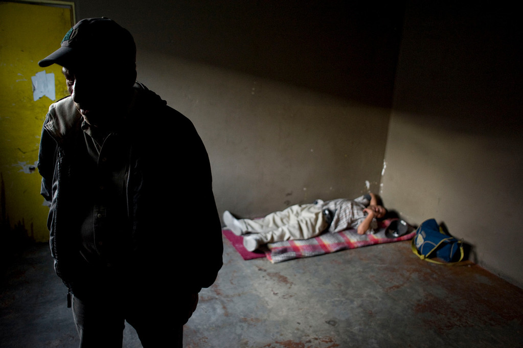. Juan Mesa (L), 64, is pictured in the Casa Refugio Elvira homeless shelter in Tijuana, Mexico, 28 April 2013. Mesa had been living undocumented for years in the US, but came back to Mexico to attend his mother\'s funeral three years ago and has not been about to return to the United States since. Heightened US border security and record numbers of deportations from the US have created a growing population of people who live homeless in Mexican cities that border with the United States. Many had lived for years undocumented in the US and have little or no family and other support in Mexico, and are subject to fall into depression, substance abuse and crime. Tijuana, Mexico, borders on the US city of San Diego, California.  EPA/DAVID MAUNG