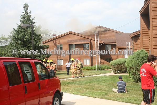 7/14/10 - East Lansing apartment building fire, 1840 West Shore Dr