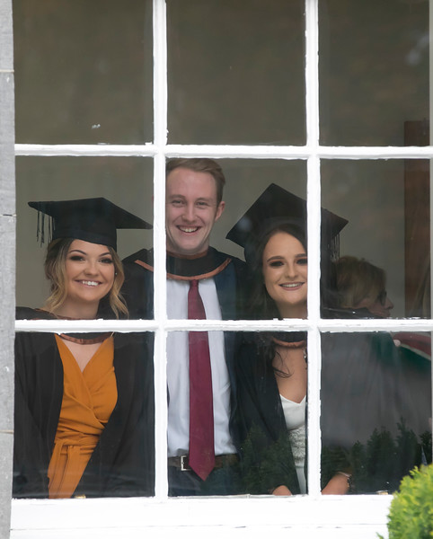 31/10/2018. Waterford Institute of Technology (WIT) Conferring Ceremonies 2018. Pictured are Katie Doran Wicklow, Chris Gormley Tramore and Sinead Curry Rathgormack. Picture: Patrick Browne