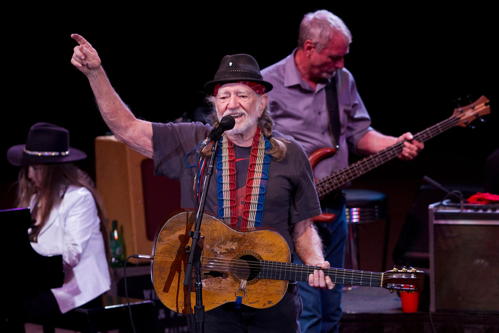. Willie Nelson performs at Red Rocks Amphitheatre in Morrison, Colorado, on June 21, 2011.   Photo by Werner R. Slocum