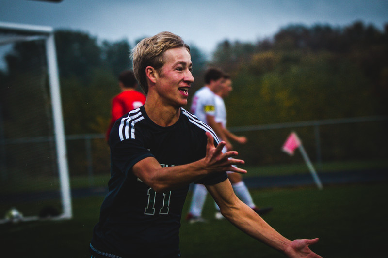 Holy Family Boys Varsity Soccer Section 6A Quarterfinal vs. Monticello, 10/10/19: Bishop Schugel '21 (11)