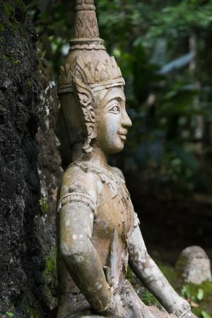 Secret Buddha Garden and Dinosaur Sculptures