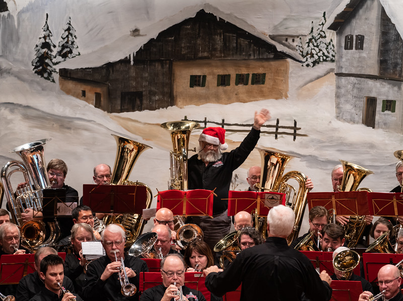 """During """"Rudolph"""", Santa showed up in low brass"""