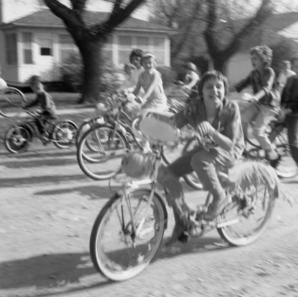 AR065.  Barbara Kay Burgum on bicycle – Arthur parade – 1963.jpg