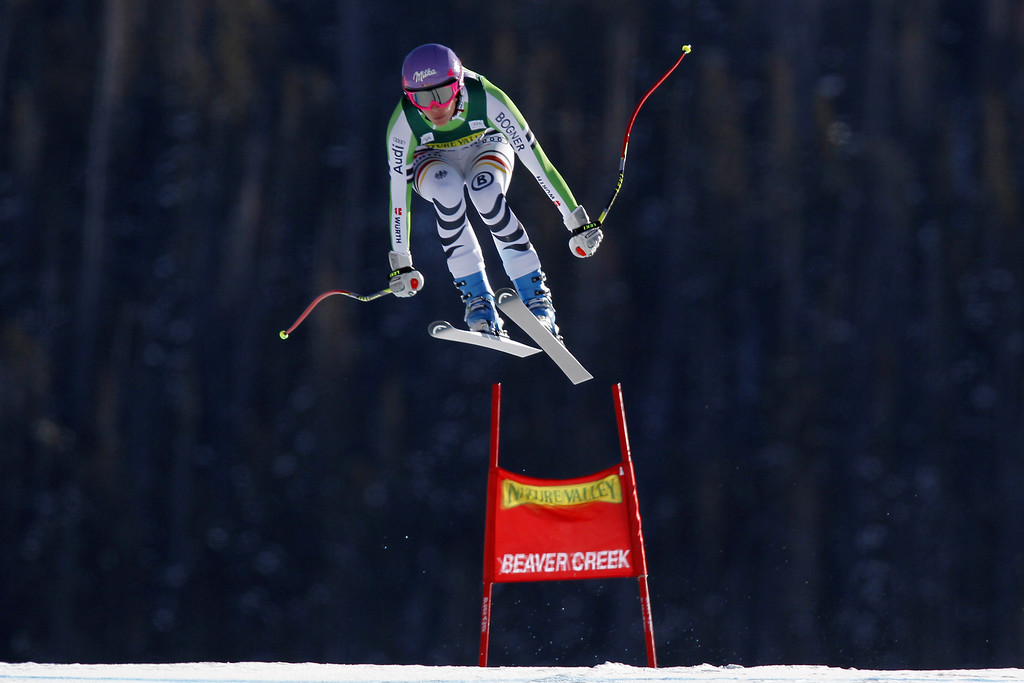 . Maria Hoefl-Riesch of Germany competes during the Audi FIS Alpine Ski World Cup Women\'s Downhill on November 29, 2013 in Beaver Creek, Colorado. (Photo by Alexis Boichard/Agence Zoom/Getty Images)