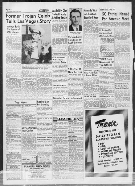 Daily Trojan, Vol. 44, No. 98, March 19, 1953