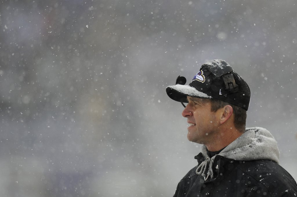 . <p><b> Ravens at Lions (-6):</b> <p>Ravens coach John Harbaugh came to the defense of Baltimore fans after they were criticized by Adrian Peterson for their snowball throwing Sunday. Baltimore folks are getting a bad rap because, as we learned from watching �The Wire,� only about half of the city is on crack. <p>Pick: <b>Lions by 7</b> <p>    <br> <p><b>RECORD</b> <p><b>Week 14:</b> Straight up 12-4, vs. spread 7-9 <p><b>Season:</b> Straight up 133-74-1 (.643), vs. spread 95-106-7 (,473) <p><b>Total (2003-13):</b> Straight up 1844-1031-3 (.641), vs. spread 1421-1369-88 (.509)   <br><p> <i>Kevin Cusick talks fantasy football, and whatever else comes up, with Bob Sansevere and �The Superstar� Mike Morris on Thursdays on Sports Radio 105 The Ticket. Follow him at <a href=\'http://twitter.com/theloopnow\'>twitter.com/theloopnow</a>.</i>   (AP Photo/Nick Wass)