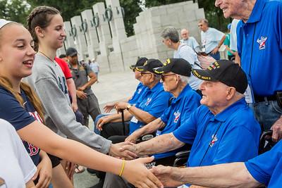Honor Flight Houston - WWII Memorial