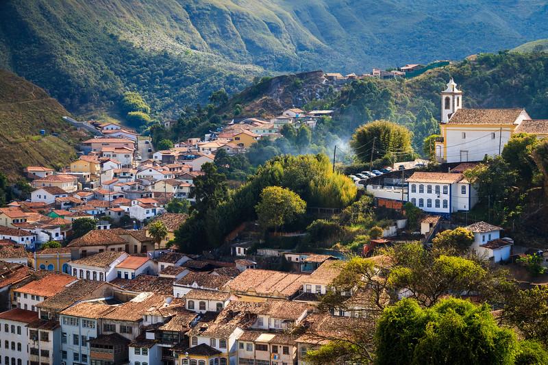 Colorful view over Ouro Preto.