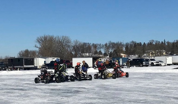 Quads on ice.