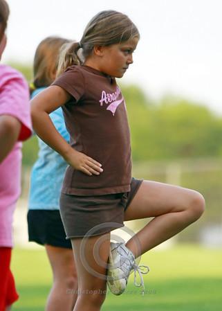 Mitey Mites Cheerleading Practice 2008
