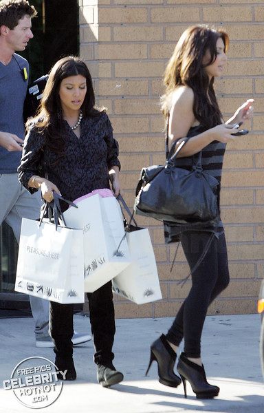 EXC: Kim And Kourtney Kardashian Visit An Adult Store in LA