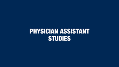 Physician Assistant Studies