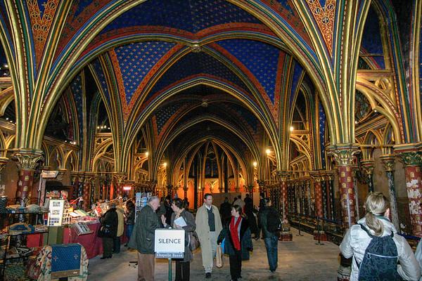 Sainte-Chapelle Paris, France - December, 2005