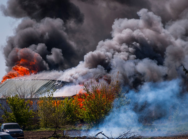 Elburn Barn Fire Rt. 47 - April 23, 2012